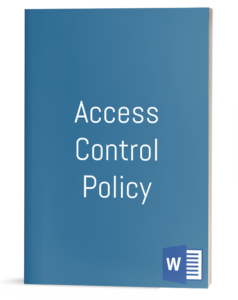 Access Control Policy Template Cover