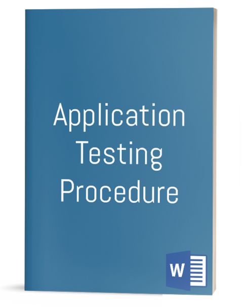 Application Testing Procedure