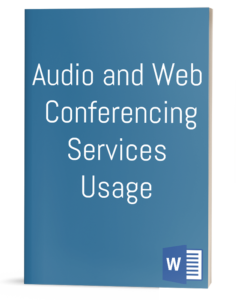 Audio and Web Conferencing Services Usage Policy