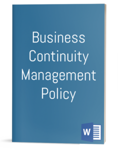 Business Continuity Management Policy