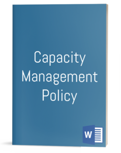 Capacity Management Policy