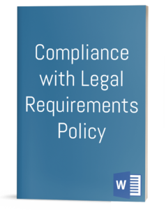 Compliance with Legal Requirements Policy