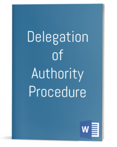 Delegation of Authority Procedure