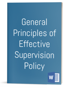 General Principles of Effective Supervision Policy