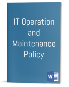 IT Operation and Maintenance Policy