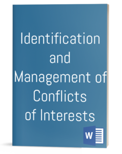Identification and Management of Conflicts of Interests Policy