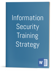 Information Security Training Strategy template
