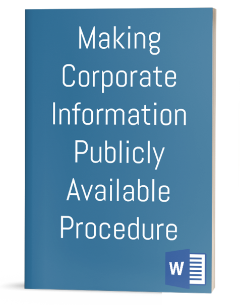 Making Corporate Information Publicly Available Procedure