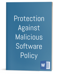 Protection Against Malicious Software Policy