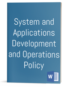Systems & Applications Development and Operations Policy