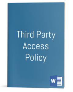 Third Party Access Policy