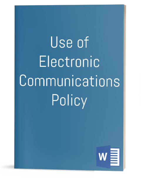 Use of Electronic Communications Policy