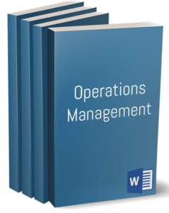 Operations Management policies and procedures