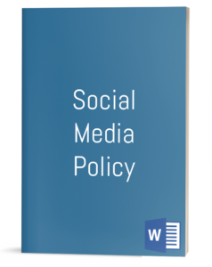Social Media Policy template