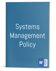 Systems Management Policy template
